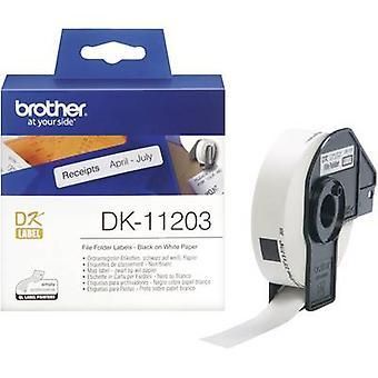 Brother DK-11203 Label roll 17 x 87 mm confiez papier blanc 300 étiquettes permanentes DK11203 Index