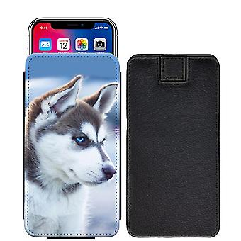 Husky Custom designet trykt trække fanen pose telefon tilfælde dække for Asus Zenfone Live ZB501KL [S] - hky01_web