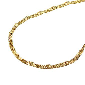 Chain 1, 3 mm 14Kt GOLD Singapore chain 45 cm