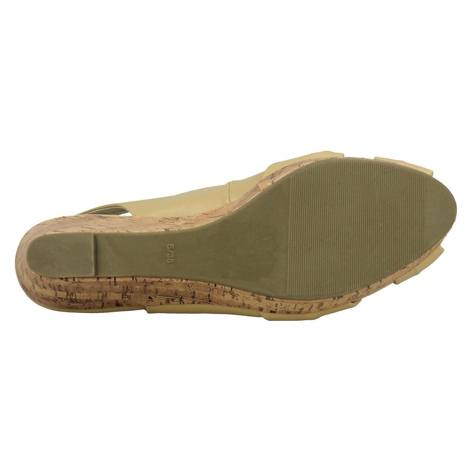 Ladies Savannah Wedge Heel Sandals F10023