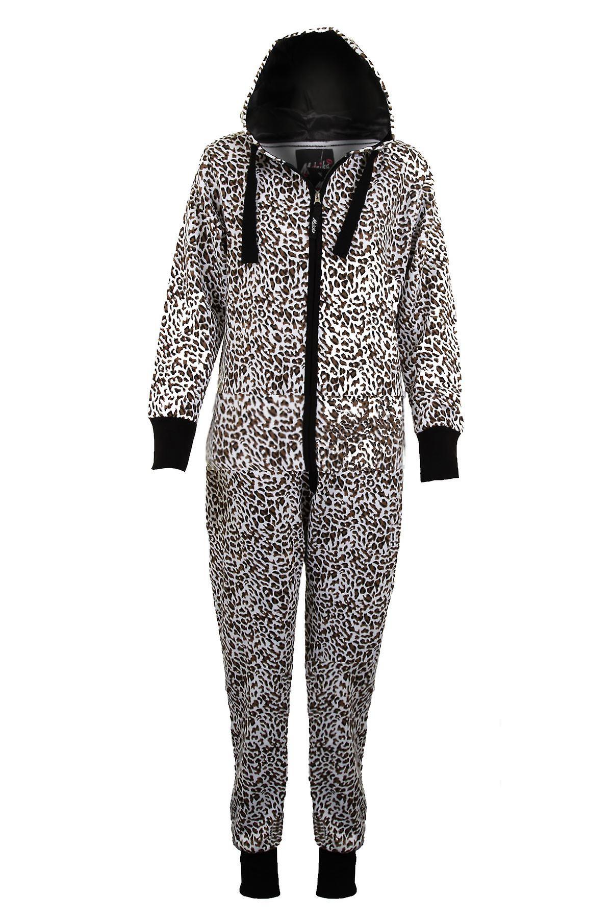 Naisten hupullinen amerikkalaisen tähteä & raidat Leopard tulosta naisten haalareita, kaikki samassa