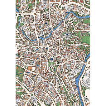 Norwich Street karta 1000 bit pussel (jhg)
