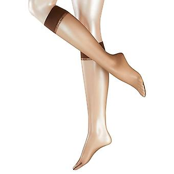 Falke Shelina Ultra Transparent 12 Denier knä höga Tights - kaffe brun