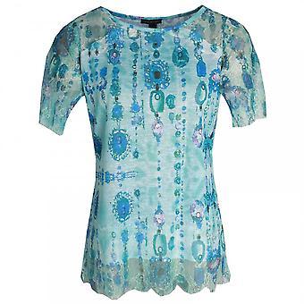 Leo & Ugo Short Sleeve Printed Lace T-shirt