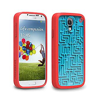 PureGear Gamer Case-A-MAZE-ING for Samsung Galaxy S4 (Blue/Red)