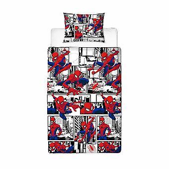 Spider-Man Metropolis housse Bed set réversible 135x200 - 48x74cm