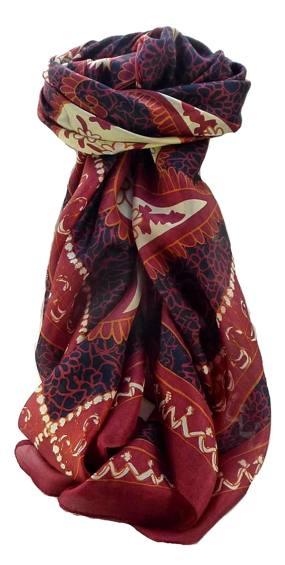 Mulberry Silk Contemporary Square Scarf Floral F219 by Pashmina & Silk