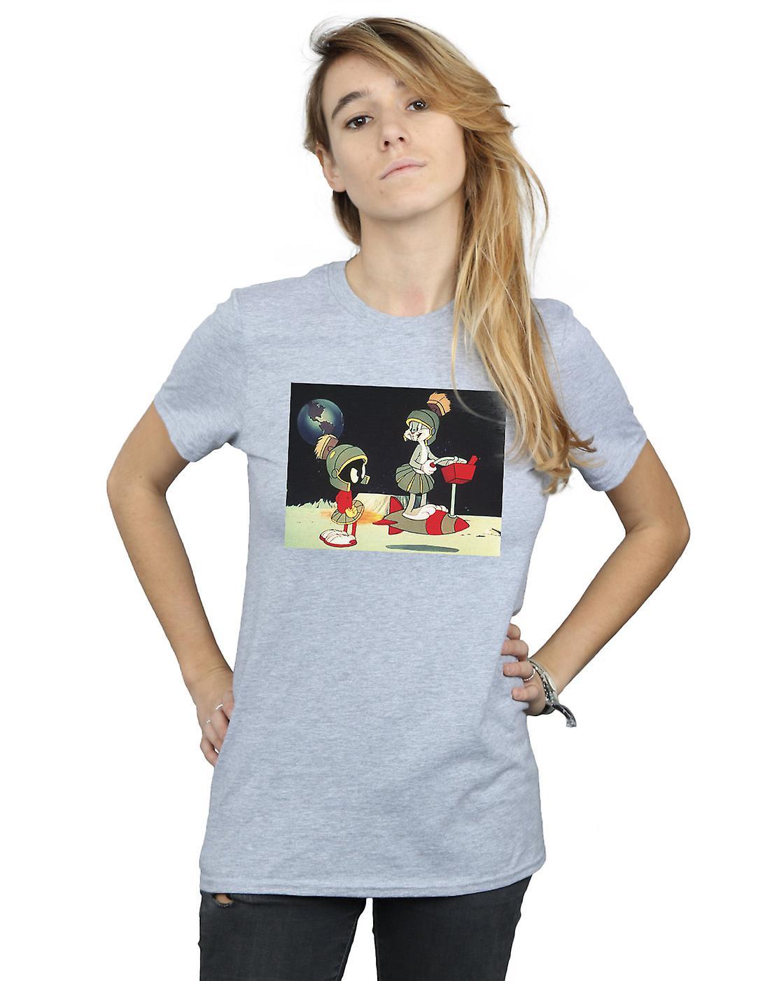 Looney Tunes Women's Bugs Bunny Spaced Boyfriend Fit T-Shirt