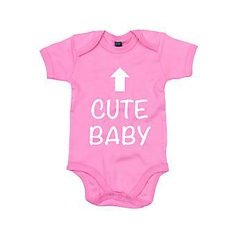 Cute Baby rosa manica corta body bambino crescere