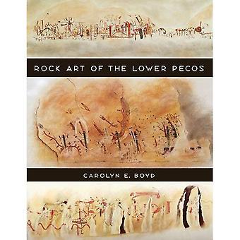 Rock Art av den lägre Pecos