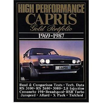 Hoge prestaties Capris gouden Portfolio 1969-1987 (Brooklands boeken weg testreeks) (Brooklands Road Test boeken)
