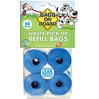 Bags On Board Dog Poo Refill Rolls (Pack Of 4)