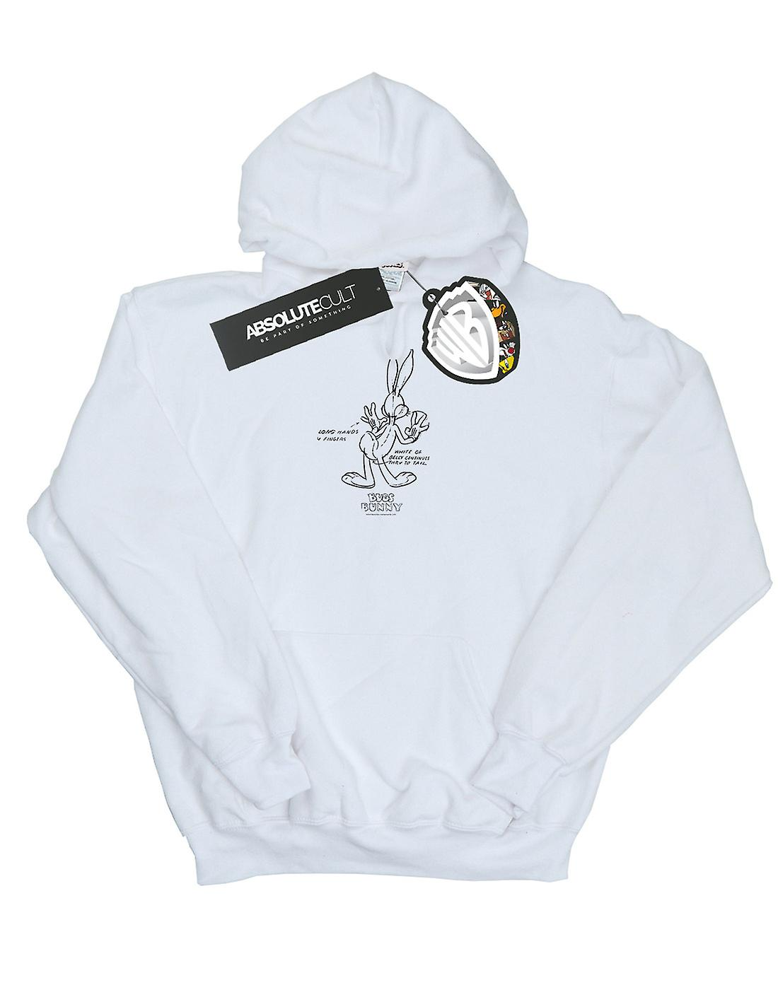 Looney Tunes Boys Bugs Bunny White Belly Hoodie