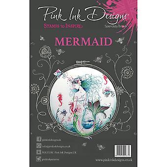 Pink Ink Designs Mermaid Nautical Series Clear Stamp 8 Set