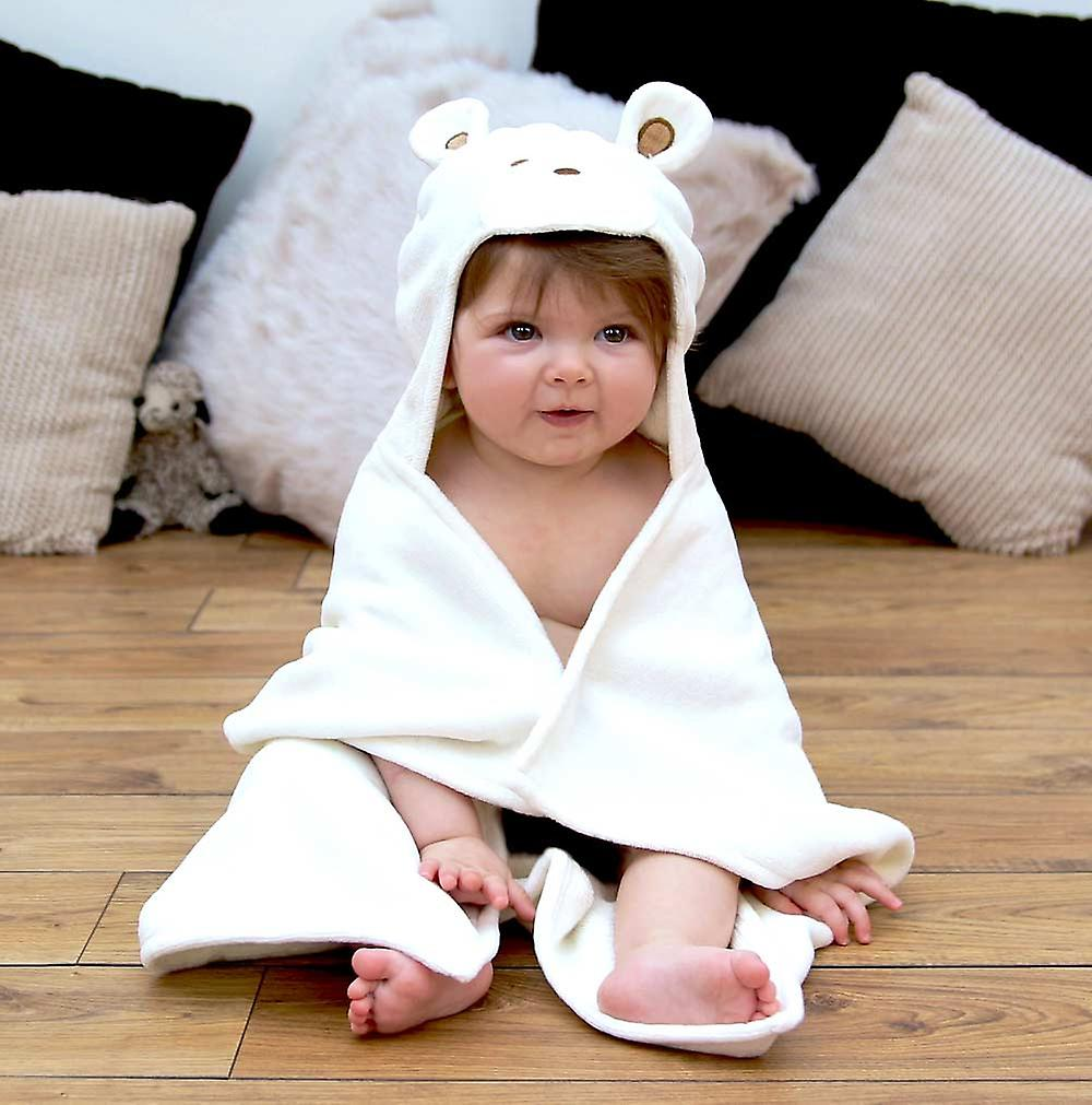 Smiley Bear baby towel gift set