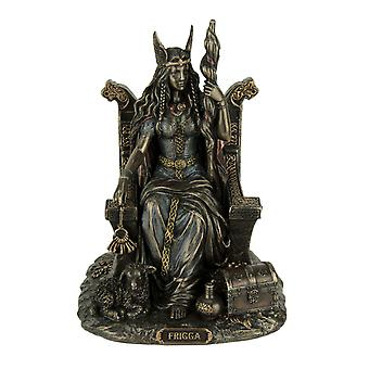 Frigga Norse Goddess Of Love Marriage and Destiny Sitting On Throne Statue
