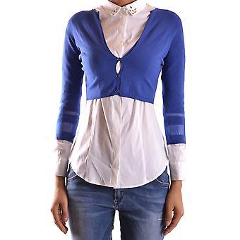 Liu Jo Ezbc086149 Dames's Blue Polyester Cardigan