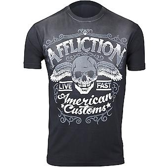 Affliction Mens AC Checkpoint T-Shirt - Black