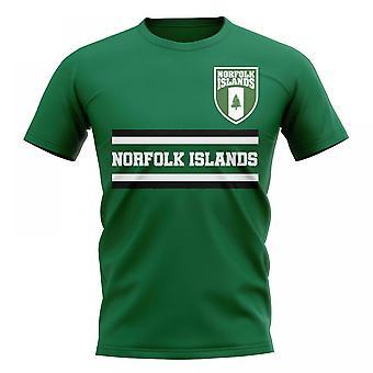 Norfolk-Insel Kern Fußball Land T-Shirt (grün)