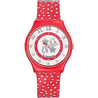 Watch Lulu Castagnette 38781 - round red girl