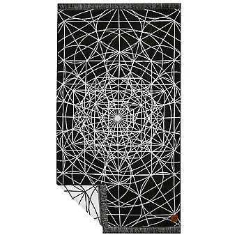 Slowtide Temple Beach Towel in Black/White