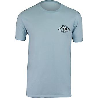 Quiksilver Mens California Garage T-Shirt - Aquatic Blue