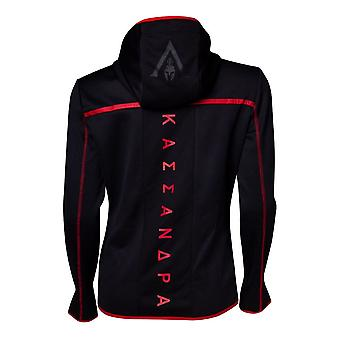 Assassins Creed Odyssey Technical Dark Hooded Zip Hoodie Black/Red X-Large