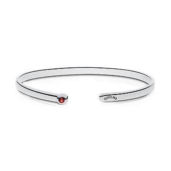 Cleveland Indians Engraved Sterling Silver Ruby Cuff Bracelet
