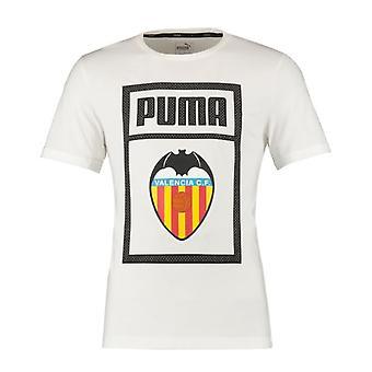 2019-2020 Valencia Puma Shoe tag Tee (wit)