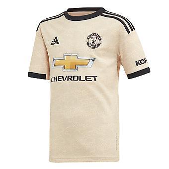 adidas Manchester United 2019/20 Kids Short Sleeve Away Football Camicia Calcio Lino