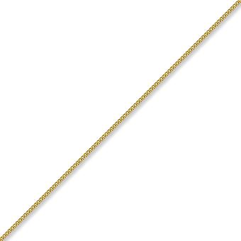 Jewelco London Unisex Solid 18ct Yellow Gold Curb 1.8mm Gauge Pendant Chain Necklace