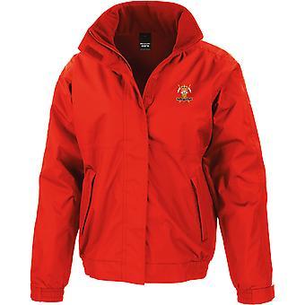 9.12th Royal Lancers veteran-licenseret British Army broderet vandtæt jakke med fleece indre
