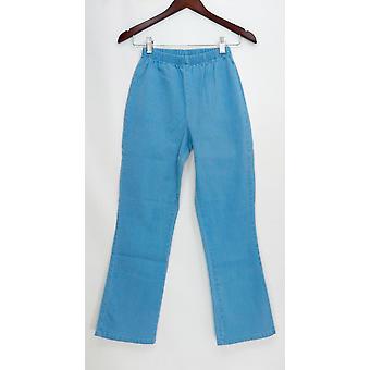 Denim & co. Petite leggings stretch Boot cut blå A01724