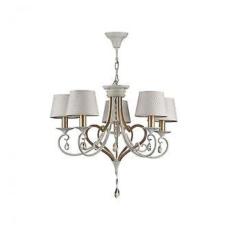 Maytoni Lighting Enna Elegant Chandelier, White Gold