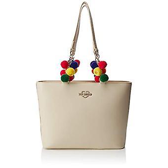 Love Moschino taske Nappa pu hånd kvinder (elfenben) 9x25x37 cm (b x H x L)