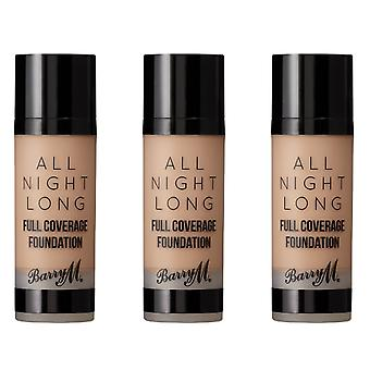 Barry M 3 X Barry M All Night Long Full Coverage Foundation - Dulce De Leche