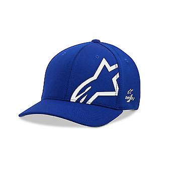 Alpinestars Mens Sonic Tech Curve Cap ~ Corp Shift blue/white