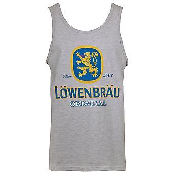 Lowenbrau Logo Men's Grey Tank Top