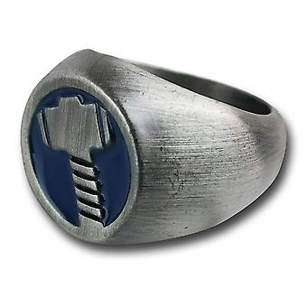 Thor Brushed Nickel Hammer Ring