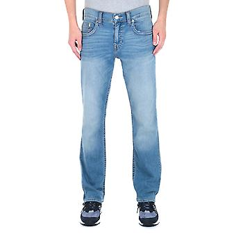 True Religion Ricky No Flap Relaxed Straight Fit Light Blue Wash Denim Jeans