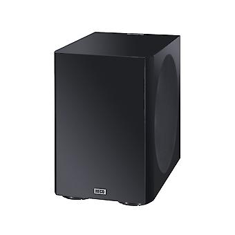 B goods Heco Elementa sub 3830A, compact active subwoofer with 38-cm bass radiator, black/satin finish