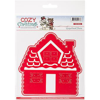 Find It Trading Yvonne Creations Die-Gingerbread House, Cozy Christmas