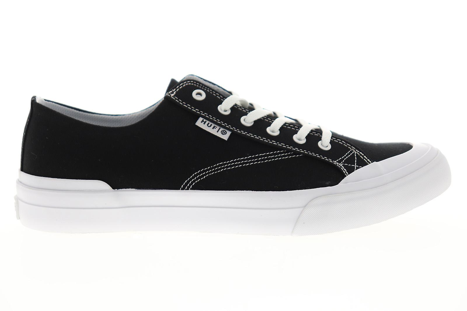 HUF Classic LO ESS TX Mens Black Canvas Low Top Athletic Skate Shoes
