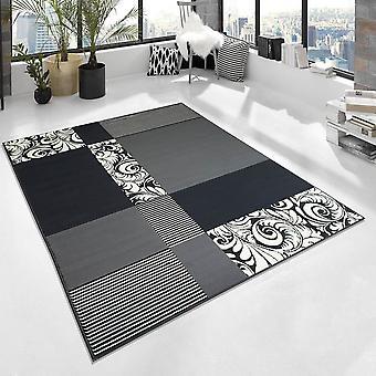 Design Short Floral Rug Floral Patchwork Plaid