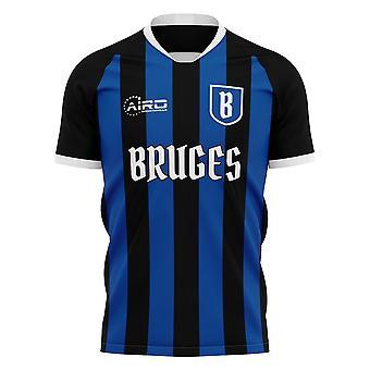 2019-2020 Club Brügge Home Konzept Fußball Shirt