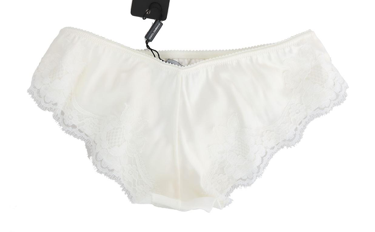 White Silk Lace Underwear Briefs