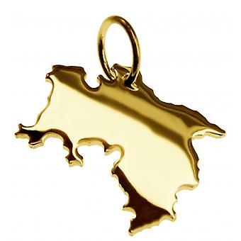 Hänge i guldgult-guld i form av NIEDERSACHSEN