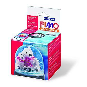 FIMO 90 x 75 mm rond Globe de neige, transparent