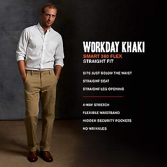 Dockers Men's Straight Fit Workday Khaki Pants with Smart, Beige, Size 42W x 32L