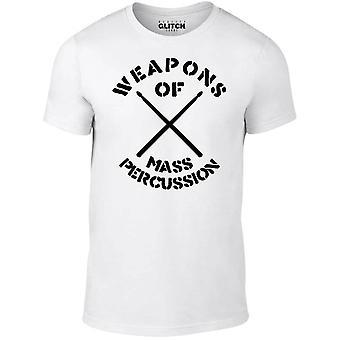 Mannen ' s wapens van massa percussie t-shirt